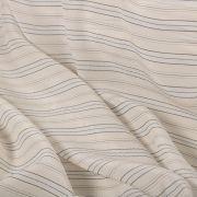 Tecido Palha de Seda Pura Listrada Branca
