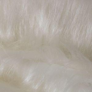 Tecido Pele Sintético Pelo Alto Off White