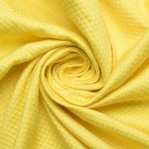 Tecido Piquet de Algodão Span Amarelo