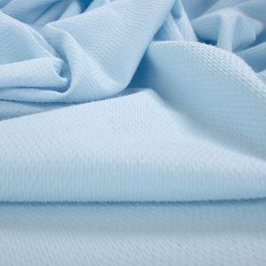 Tecido Piquet de Algodão Span Azul Bebê