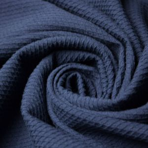 Tecido Piquet de Algodão Span Azul Marinho
