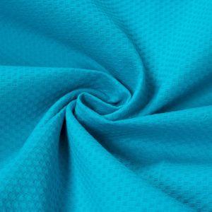 Tecido Piquet de Algodão Span Azul Turquesa