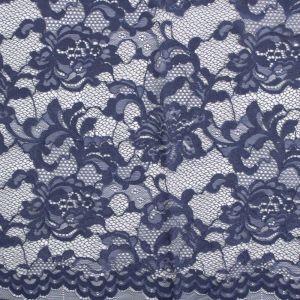 Tecido Renda Chantilly Azul Marinho