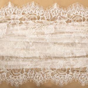 Tecido Renda Chantilly Bordada Off White