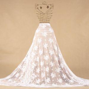Tecido Renda Chantilly Francesa Off White