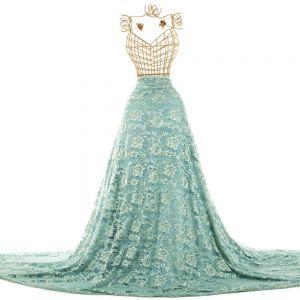 Tecido Renda Chantilly Verde Menta