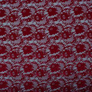 Tecido Renda Chantilly Vermelho Escuro