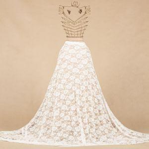 Tecido Renda de Malha Chantilly Off White