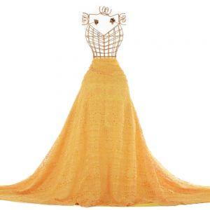 Tecido Renda Guipear Floral Étnica Amarelo