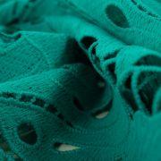 Tecido Renda Guipear Verde Esmeralda Claro
