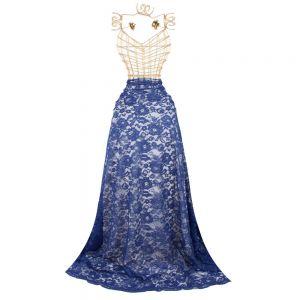 Tecido Renda Racine Azul Royal