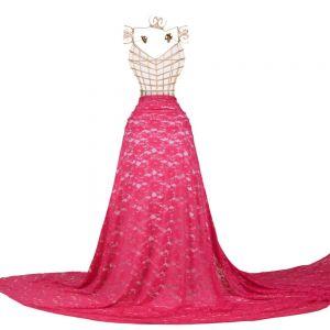 Tecido Renda Racine Pink