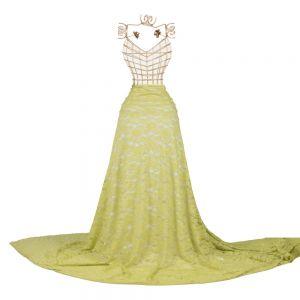 Tecido Renda Racine Verde