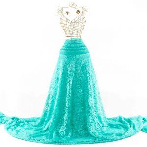 Tecido Renda Racine Verde Tiffany