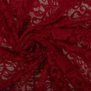 Tecido Renda Racine Vermelho Escuro