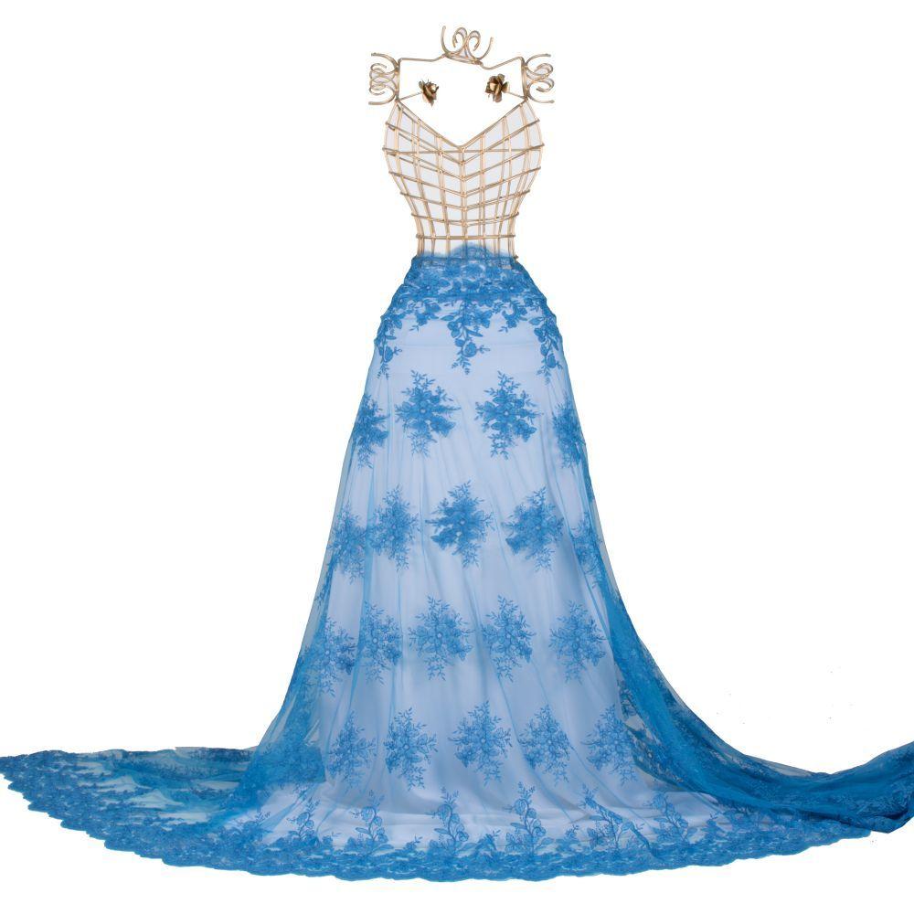 Tecido Renda Sutache Azul