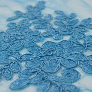 Tecido Renda Sutache Azul Celeste