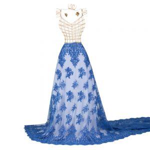 Tecido Renda Sutache Azul Royal