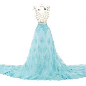 Tecido Renda Sutache Azul Tiffany