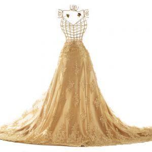 Tecido Renda Sutache Dourado