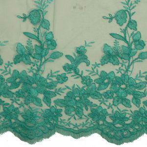 Tecido Renda Sutache Verde Tiffany