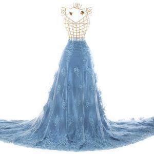 Tecido Retalho Renda Sutache 85 CM Azul Serenity