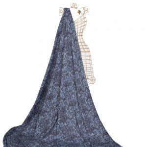 Tecido Sarja Estampada Azul