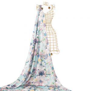 Tecido Seda Sintética Estampa Maxi Floral Tiffany