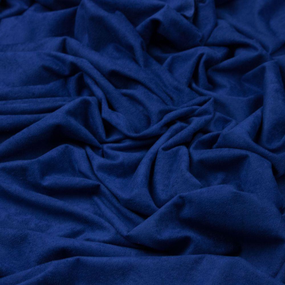 f4556cb938f9 Tecido Sued Azul Royal na Riviera Tecidos Finos