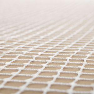 Tecido Tela Xadrez Bordada com Micro Paetês Branco Crú