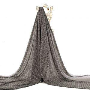 Tecido Toque de Seda Estampa Geométrica Preta e Branca