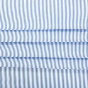 Tecido Tricoline Algodão Fio Tinto Listrada Azul