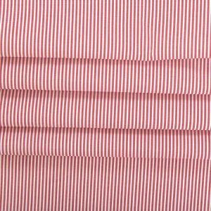 Tecido Tricoline Algodão Fio Tinto Listrada Vermelho