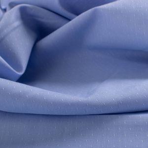 Tecido Tricoline Algodão Italiana Micro Poá Azul Claro