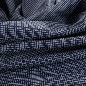 Tecido Tricoline Algodão Italiana Mini Quadrados Azul Marinho