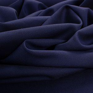 Tecido Tricoline Algodão Italiana Piquet Azul Marinho