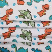 Tecido Tricoline Estampa Dinossauros