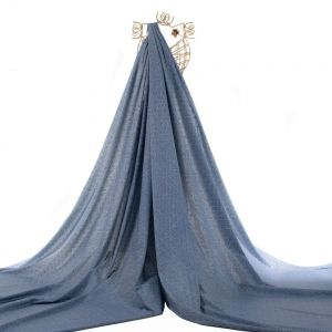 Tecido Tricoline Estampa Geométrica Azul