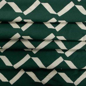 Tecido Tricoline Estampa Geométrica Verde
