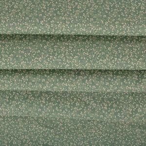 Tecido Tricoline Estampa Micro Floral Verde