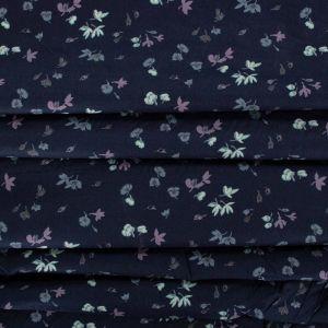 Tecido Tricoline Estampa Mini Floral Azul Marinho