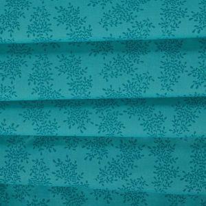 Tecido Tricoline Estampa Mini floral Azul Turquesa