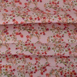 Tecido Tricoline Estampa Mini Floral Cor de Rosa