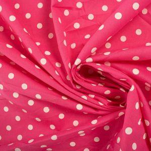 Tecido Tricoline Estampa Poá Pink