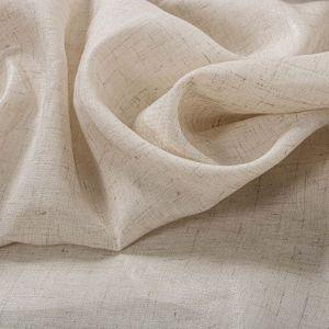 Tecido Cambraia de Viscose com Linho Foil Marfim