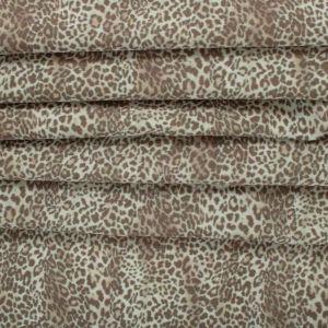 Tecido Tricoline Mista Estampa Animal Print Onça