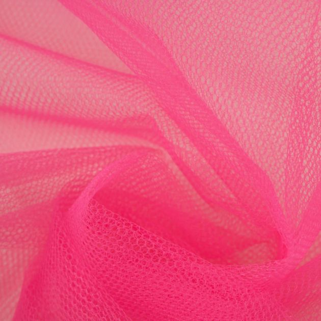 Tecido Tule Comum Pink Flúor