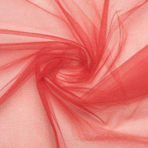 Tecido Tule Comum Vermelho Cereja