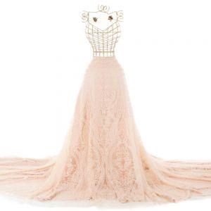 Tecido Tule Glitter Arabesco Marfim