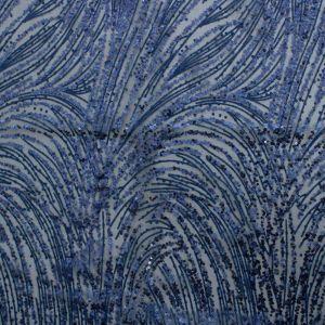 Tecido Tule Glitter com Micro Paetês Azul Marinho